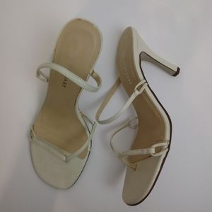 Vintage Colin Stuart Ivory Strappy Thong Heels 8.5